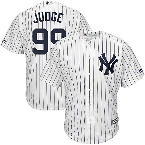Outerstuff Aaron Judge New York Yankees MLB Majestic Toddler White Home Cool Base Player Jersey (Toddler 4T) -