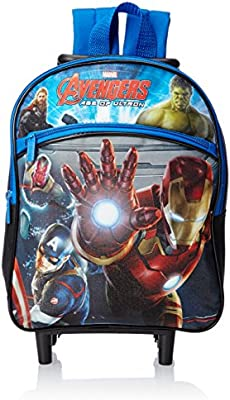 Marvel Boys' Avengers 12 Inch Rolling Backpack, Multi, Small Size