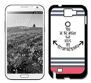 MEIMEIYou Be The Anchor Coral StripesGalaxy Note 3 Case Fits Samsung Galaxy...MEIMEI