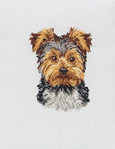 Anchor - Patrón para cuadro de punto de cruz, diseño de yorkshire terrier