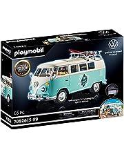 PLAYMOBIL 70826 Volkswagen T1 campingbus als lichtblauwe surfer-van, speciale editie voor fans en verzamelaars, 5-99 jaar