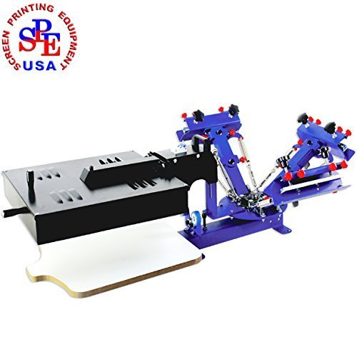 3 Color 1 Station Desktop with Dryer Single Color Screen Press DIY Equipment by Screen Printing Machine Series