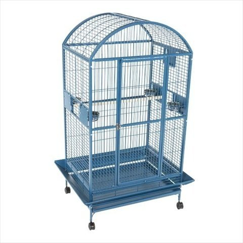 A&E Cage 9004030 Green Dome Top Bird Cage with 1'' Bar Spacing, 40'' x 30'' by A&E Bird Cages
