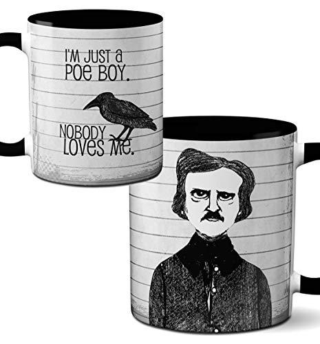 Edgar Allan Poe Boy Mug by Pithitude - One Single 11oz. Black Coffee Cup