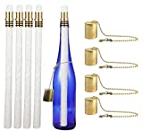 Tools & Hardware : Wine Bottle Tiki Torch Kit 4 Pack by EricX Light, Includes 4 Long Life Tiki Torch Wicks ,Brass Tiki Torch Wick Holders And Brass Caps - Just Add Bottle for an Outdoor Wine Bottle Light