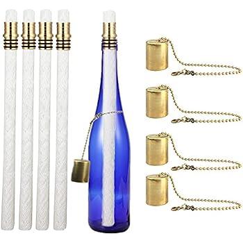 Amazon Com Lanmu Wine Bottle Tiki Wicks Oil Lamps