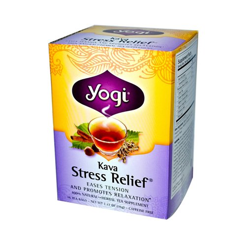 Bulk Saver Pack 3x16 BAG : Yogi Tea Kava Stress Relief - Caffeine Free - Yogi Caffeine Free Tea