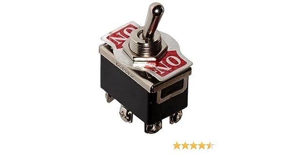 Interruptor conmutador de palanca DPDT ON-ON 10A//250V AERZETIX 2 posiciones C10574