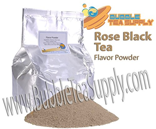 Rose Flavored Tea - BEST-SELLING BUBBLE TEA SUPPLY ROSE BLACK TEA SMOOTHIE FLAVORED POWDER BOBA BUBBLE DRINK PREMIUM AWARD WINNING CUSTOMERS #1 CHOICE 50 SERVINGS (ROSE BLACK TEA BUBBLE TEA POWDER)