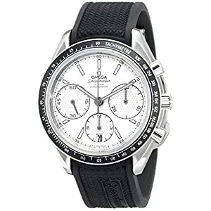 Omega Men's 32632405002001 Speed Master Analog Display Automatic Self Wind Silver Watch