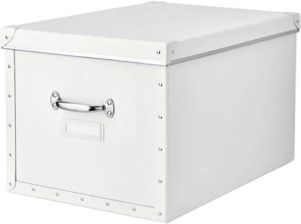 Ikea 803.956.77 Fjalla - Caja de almacenaje con tapa (tamaño 13, 4 x 22 x 11 cm), color blanco: Amazon.es: Hogar
