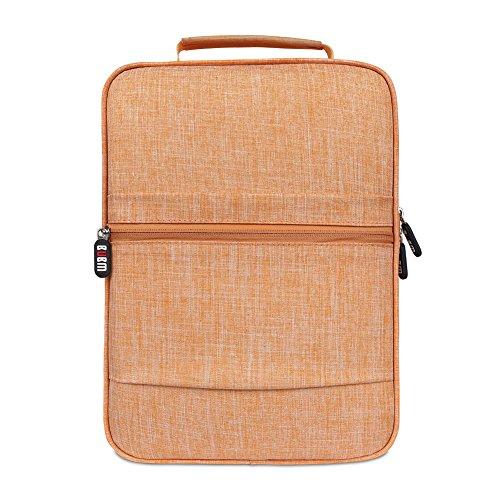 BUBM Schuh Travel Organizer / Schuh Cube-Portable Wasserdichte Schuhtaschen für Outdoor, Workout, Tanzen, Gym - (Groß, Orange)
