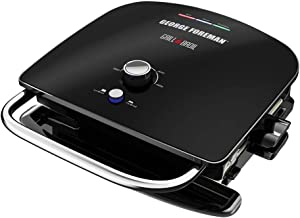 George Foreman GRBV5100BLX 4-in-1 Electric Indoor Grill & Broil, Black/Silver