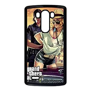 Grand Theft Auto V Game LG G3 Cell Phone Case Black TPU Phone Case SV_102346