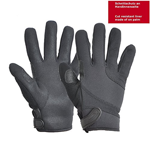 - Hatch SGK100 Street Guard  Glove w/Kevlar, Black, Medium