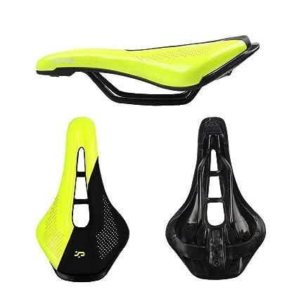 AOLVO - Cojín de Gel para sillín de Bicicleta, cómodo para Hombres, Mujeres, niños, montaña, Bicicleta y sillín de Bicicleta de Carretera, Alivia la ...