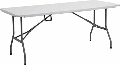 Amazon.com: Livivo - Mesa plegable resistente de 5.9 ft ...
