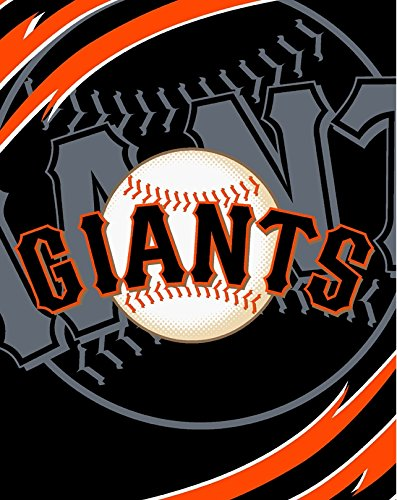 SF Giants MLB Royal Plush Super Soft Queen Size Blanket 79 x 95 (San Francisco Giants Blanket Throw)