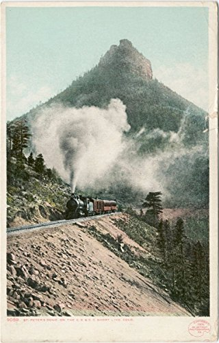 Historic Pictoric Postcard Print | St. Peter's Dome, Royal Gorge, Colo, 1898 | Vintage Fine Art