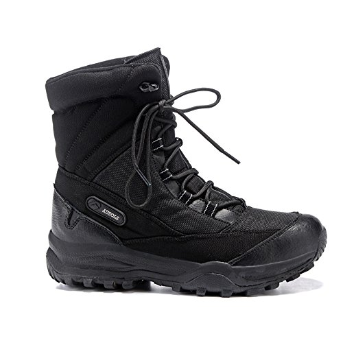 Winter plus cashmere, warm waterproof shoes, plus cashmere, warm waterproof, anti-skid travel, ski shoes, high boots, outdoor snow boots,39 black by ZRLsly