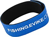 Evike Fishing Snake Skin Multi-Rod Hook & Loop Fishing Rod Strap