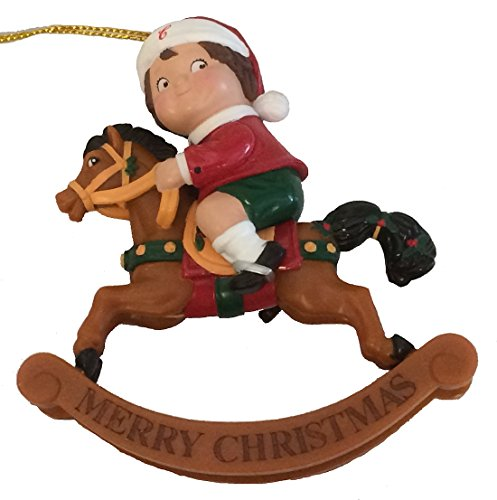 Campbell Soup Kid Rocking Horse Christmas Ornament