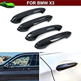 New Design New 4pcs ABS Carbon fiber Side Door Handle Lamp Frame Molding Cover Trim Emblems For BMW X3 2018 2019 2020