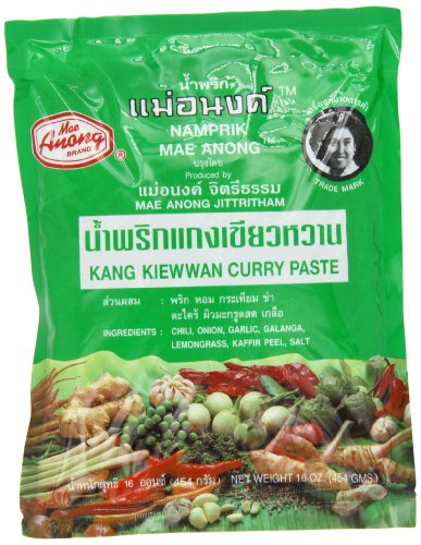 (Mae Anong Green Curry Paste, 16-Ounce)