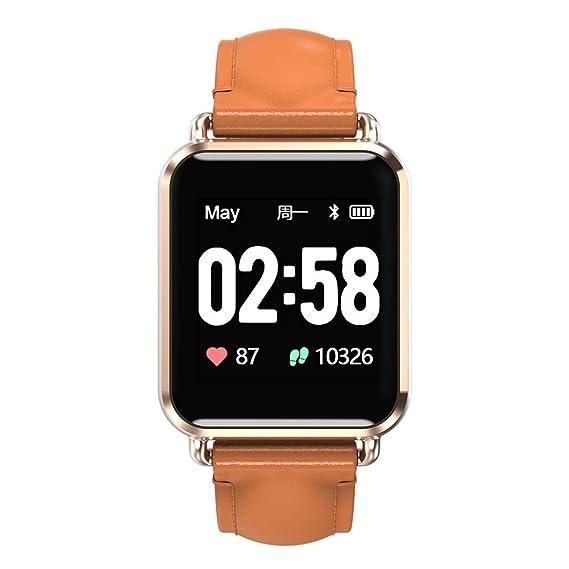 Newwear Q13 Smartwatch Men Women ECG+PPG Blood Pressure 1 3' Custom Dial  Eight Sport Modes Call Message Push Fitness Smart Watch (Gold)