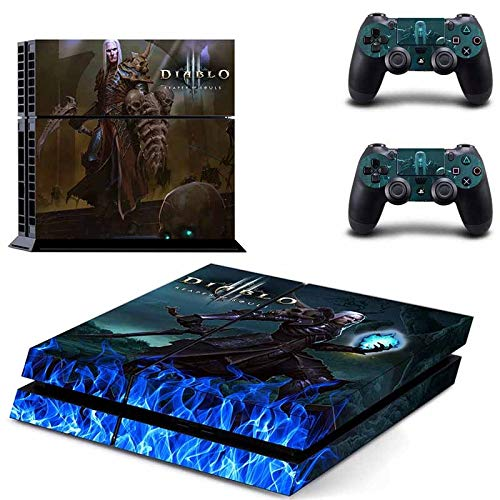 Playstation 4 Skin Set - DIABLO 3 HD Printing Vinyl Skin Cover Protective for PS4 Gaming Console and 2 PS4 Controller by Mr Wonderful Skin