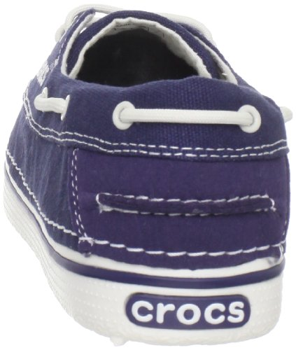 Nautical Navy Nautical náuticos Zapatos Canvas Hover para mujer Navy Crocs pUqBwxU