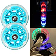 Kutrick 100mm LED Light Up Scooter Wheels 100mm Replacement Pair with ABEC-9 Bearing for Razor Scooter