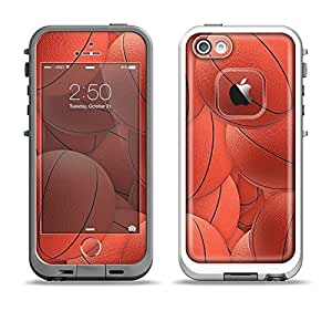 The Basketball Overlay Apple iPhone 5-5s LifeProof Fre White Case and Skin Set (Black LifeProof Case Included)