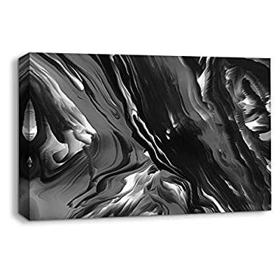 Handsome Technique, That You Will Love, Abstract Black and White Painting Artwork for Home Framed