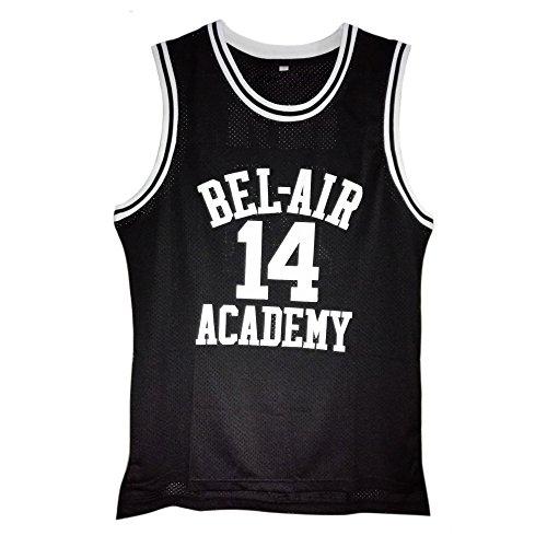 MOLPE Will Smith #14 Bel Air Academy Basketball Jersey S-XXXL Black (L)