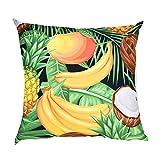 Jujunshangmao Cartoon Creative Fruit Pattern Polyester Pillowcase Decoration Home (45x45cm)