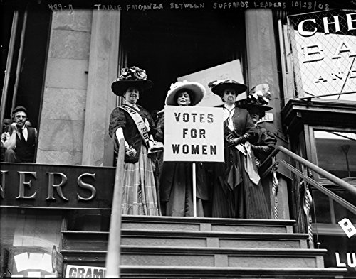 1908-suffragettes-in-new-york-with-vote-sign-vintage-photo-reprint-8x10
