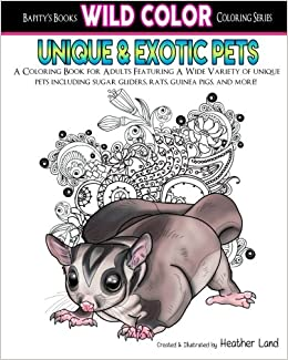 unique exotic pets adult coloring book wild color volume 3