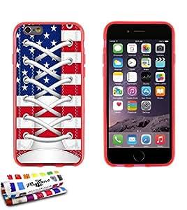 Carcasa Flexible Ultra-Slim APPLE IPHONE 6 PLUS 5.5 POUCES de exclusivo motivo [Zapato USA] [Roja] de MUZZANO  + ESTILETE y PAÑO MUZZANO REGALADOS - La Protección Antigolpes ULTIMA, ELEGANTE Y DURADERA para su APPLE IPHONE 6 PLUS 5.5 POUCES