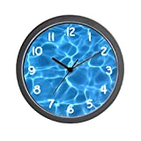 CafePress - Aqua Blue Swimming Pool - Unique Decorative 10' Wall Clock