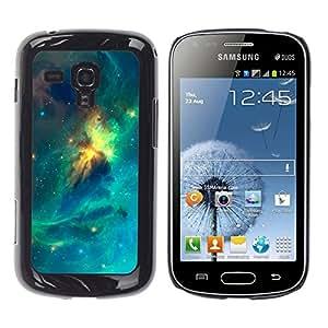 Mágico Expansión colorido - Metal de aluminio y de plástico duro Caja del teléfono - Negro - Samsung Galaxy S Duos S7562