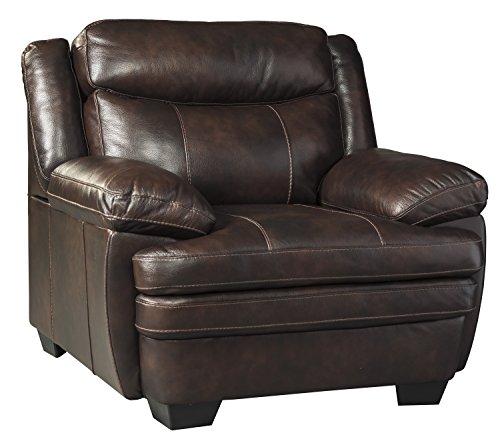 Ashley Furniture Signature Design - Hannalore Contemporary Leather Accent Chair - Café ()