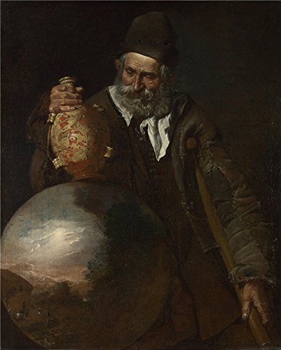 Oil Painting 'Italian An Old Man Holding A Pilgrim Bottle ' Printing On Perfect Effect Canvas , 10 X 12 Inch / 25 X 32 Cm ,the Best Garage Decor And Home Gallery Art And Gifts Is This High Resolution Art Decorative Canvas Prints