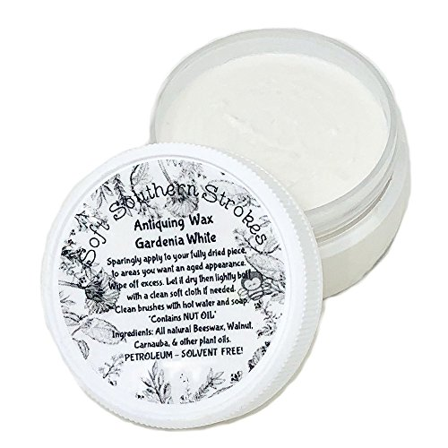Antiquing Wax Decorative Soft Finishing Wax for Painted Furniture, Arts and Crafts 2 oz 4 oz. or 8 oz. (2 oz, Gardenia White)