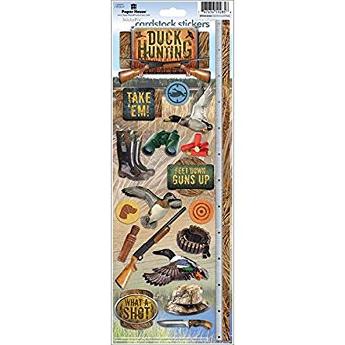 Paper House Productions STCX-0194E Cardstock Stickers, Duck Hunting (6-Pack)