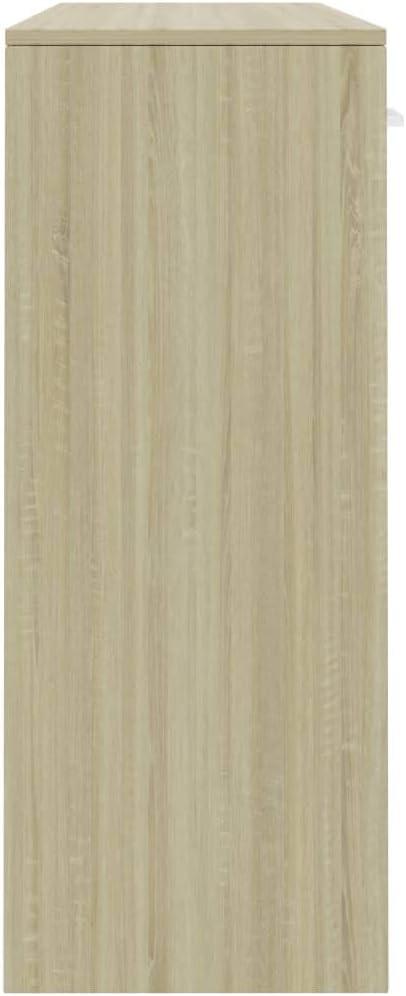 vidaXL Credenza Minimalista con Ante e Cassetti Robusta Elegante Madia Armadietto Cassettiera Arredo Casa Bianca 110x34x75 cm in Truciolato