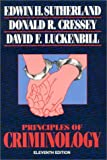 Principles of Criminology, Edwin H. Sutherland and Donald R. Cressey, 0930390709