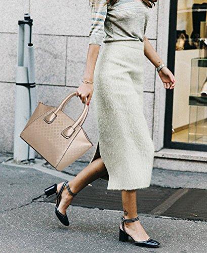 Portafogli Set Solido di Donna un a Colore Pezzi in Attraente Borsa Exquisite Borsetta Pelle Oro 6 Dexinx Tracolla UPwqgnOBUx