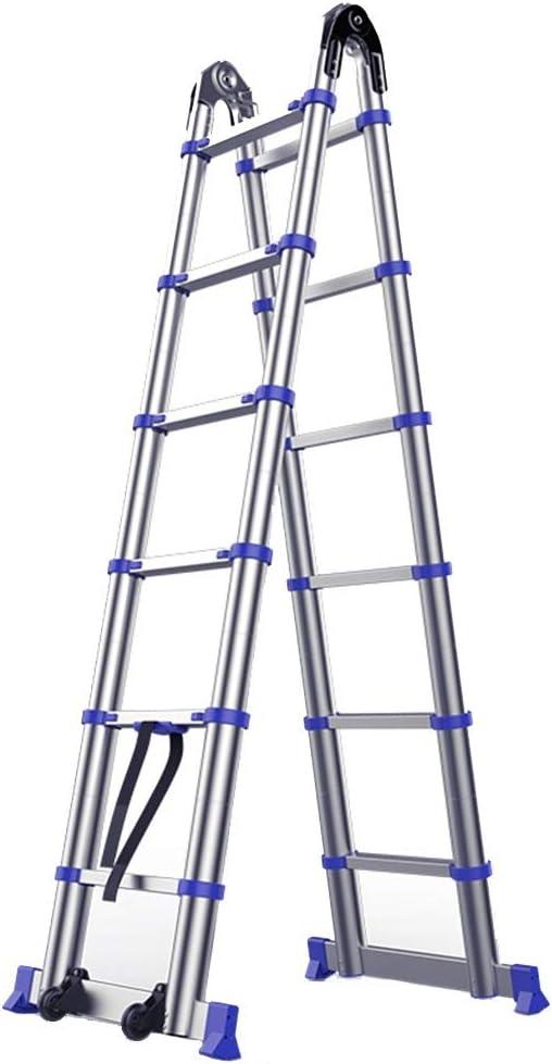 Escalera extensible/ Escalera telescópica Escalera Plegable telescópica Extensible Escalera Plegable Aluminio en Forma de A, para Padre/Esposo/Novios/colegas/familias, Escalera Recta de 3.8 m: Amazon.es: Hogar