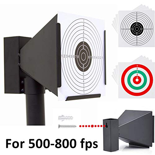 Pellet Gun Target With 10 PCS Paper Shooting Targets- Cone Designed-Avaliable Wall Mounted For Pellet Gun-BB Gun-Airsoft Gun Indoor Outdoor Shooting